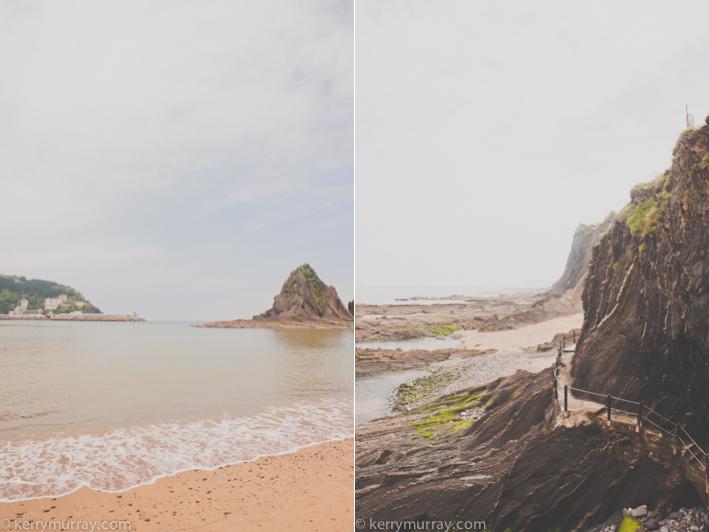 Basque country coastline