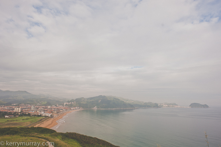 Basque country coastline
