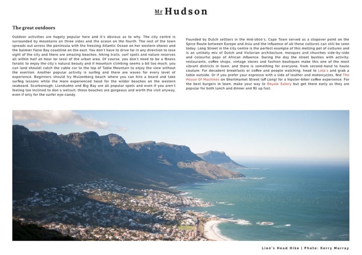 Travel Photographer Cape Town
