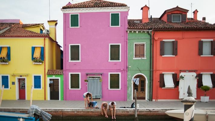 Travel photography Murano Burano Italy
